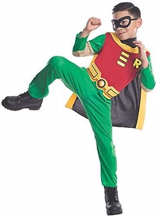 Costume Carnevale / Halloween Supereroe Robin di Batman – Bambino Large