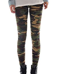 Housweety Sexy Damen Bunt Elastische Camouflage Leggings Leggins Hüfthose Hose