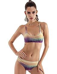 DATO Mujer Push-Up Bikini Degradado de Color Traje de Baño
