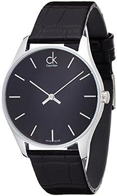 Calvin Klein Hombre Reloj de pulsera analógico cuarzo piel K4D211C1