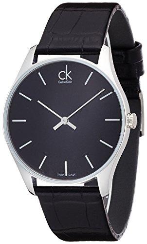 Calvin Klein Herren-Armbanduhr Analog Quarz Leder K4D211C1