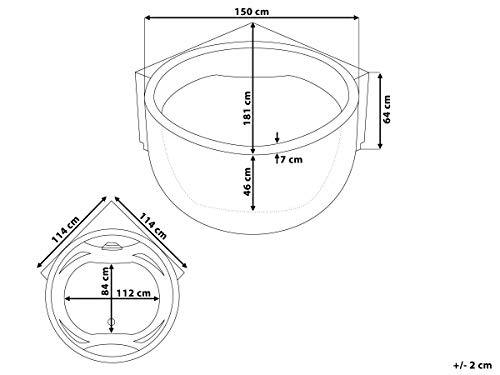 Home Deluxe Atlantic Xl Whirlpool Inkl Komplettem Zubehr