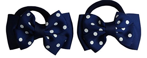 Preisvergleich Produktbild Jessidress Haargummis Haar Gummis Haarschleife Haarclips Haarband Haarblumen Dunkel Blau