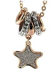 Idea Regalo - Collana BOCCADAMO placcata oro rosa e pendente glitterato a stella