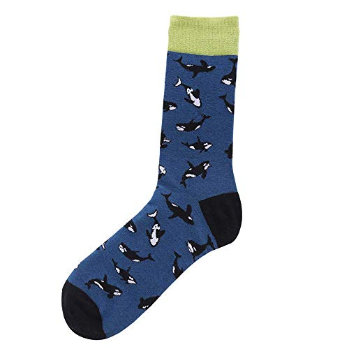 Missoul 1 Pair Unisex Casual Cotton Socks Fashion Mens Women Taro Banana Spaceship Pattern Breathable Stockings Sleeping Sporty Cute Cartoon Novelty Funny Animal Crew for and Men (G) Aetrex Mens Dress