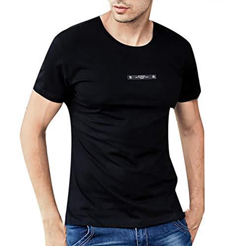 Basic-104 Keyboard (EUZeo Mens Slim Fit Kurzarm T-shirts Briefe Gedruckt Sommer Minimalistisch kurzärmelig Rundausschnitt Tees Tops Hemden Casual Sweatshirts Streetswear M-4XL)