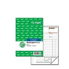 Sigel RE625 Bills (Pack of 2 x 50 Sheets, 1 Blue, 1 Items