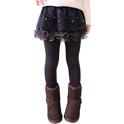 s Kinder Girl Hose Strumpfhose Legging Frühling/Herbst Mädchen Leggings Hosenrock Ballettröckchen-Rock Kaffee 110cm ()
