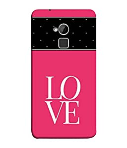 FUSON Designer Back Case Cover for HTC One Max :: HTC One Max Dual SIM (The Heart Locket Design In Red Pearls)