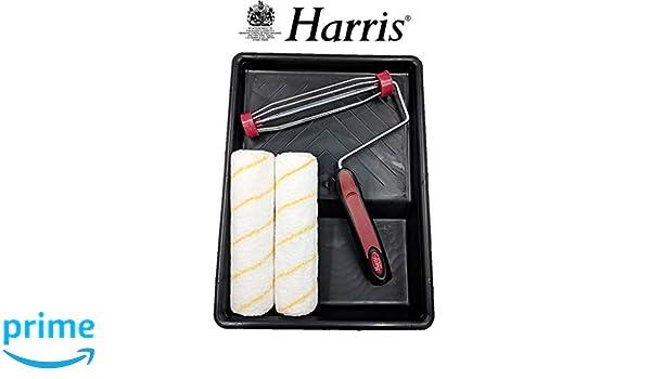 Set di rulli da pittura telaio da 3,8 cm Harris Premier con 2 manicotti e vassoio 22,9 cm