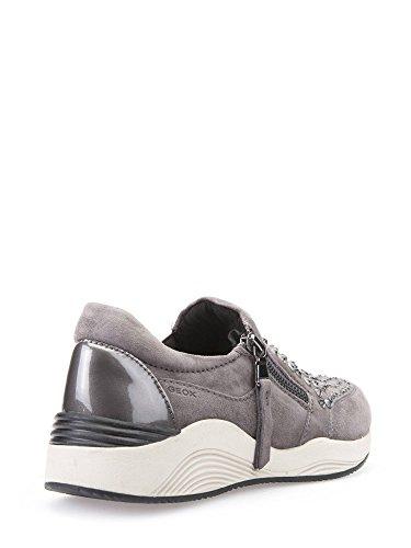 Geox D Omaya C, Baskets Basses Femme Dk Grey