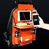 Autositz-Rücken Multi-Pocket Leder Reisetisch Aufbewahrungstasche Organizer Halter