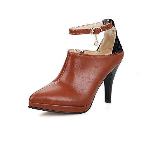 9d6887695185b7 Frauen Ankle Strap Pumps Frühling Herbst Plattform Schuhe Spitzen Zehen  Pumpen Zeichenfolge Wulst.