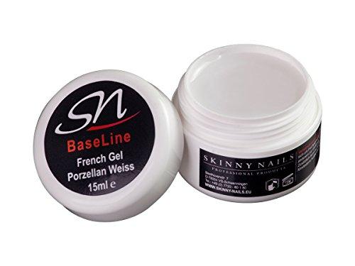 French Gel soft weiss Aufbaugel UV Gel Porzellan milky white, (1 x 15 ml) (Uv Weiß Gel-nagel)