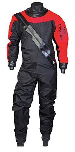 Dry Fashion Damen Herren Trockenanzug Profi-Sailing Regatta, Größe:L, Farbe:schwarz/rot