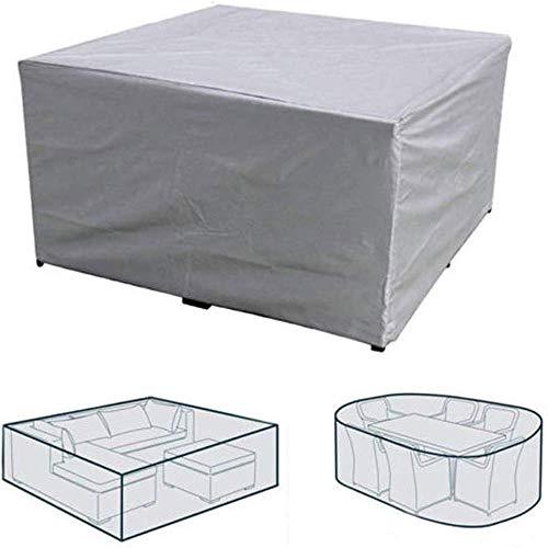 NINGWXQ Gartenmöbel-Abdeckung, wasserdicht, UV-Schutz, für Terrassenmöbel, Außenbereich, reißfest, rechteckig, 2 Farben, Verschiedene Größen, Synthetikfaser, Silber, 200×160×70cm