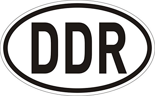 Sticker Länder-Kennzeichen DDR I 14,5 x 9 cm I Auto-Aufkleber wetterfest I Artikel Utensilien als Geschenk-Idee I kfz_031