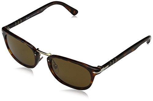 Persol Herren Sonnenbrille 0PO3127S, Braun (Havana 24/57), One Size (Herstellergröße: 52)