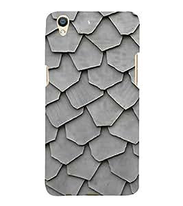 PrintVisa Stone Style Pattern 3D Hard Polycarbonate Designer Back Case Cover for Oppo F1 Plus :: Oppo R9