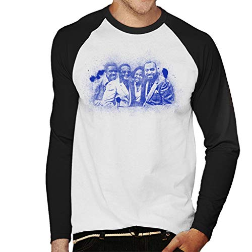 TV Times Gladys Knight and The Pips 1980 Paint Splatter Men's Baseball Long Sleeved T-Shirt