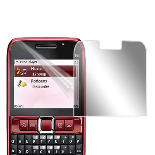 Clear Protector Shell LCD Screen Guard for Nokia E63 E63 Lcd