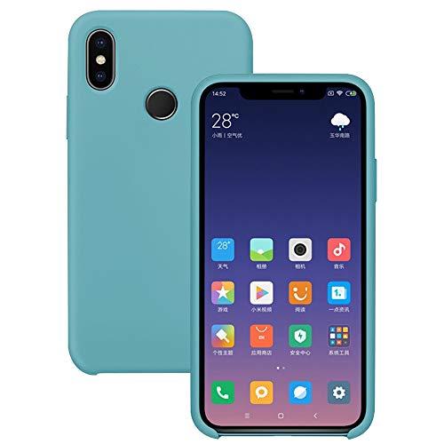 Pacyer Funda Compatible con Xiaomi Mi MAX 3, Ultra Suave TPU Gel de Silicona Case Protectora Suave Flexible teléfono Absorción de Impacto Elegante Carcasa Compatible Xiaomi Mi MAX 3 (Azul Menta)
