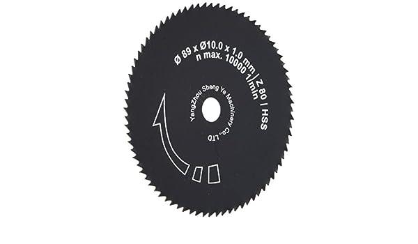 diametro 89/X 10/mm Ne di metalli e plastiche Laminato Scheppach 7901805702/di sega//immersioni//lama adatto per pl285/per legno massiccio