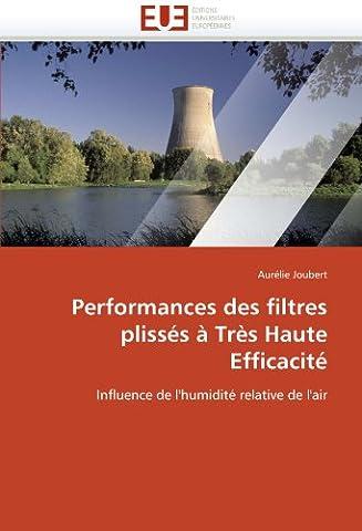 Performances des filtres plissés à très haute