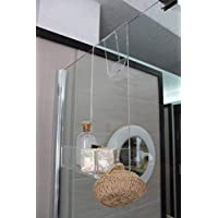 Agplex - Portasapone doccia in plexiglass con porta asciugamani -Mensola per doccia - Misure in cm 24x20xh45