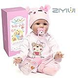 ZIYIUI realtà neonatale Vinile in silicone morbido 55 cm 22 pollici Bambolina reborn doll simulazione...