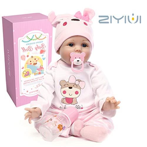 ZIYIUI 22 Inch 55 cm Muñeca Reborn Baby Dolls Hecho a Mano...