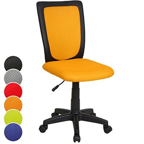 Infantastic Sedia scrivania ufficio cameretta bambini ragazzi ergonomica imbottita altezza regolabile colore arancione