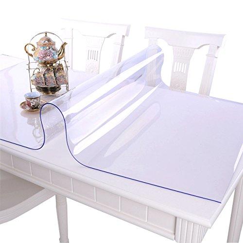MAGILONA Homen - Protector de PVC impermeable para mantel, mesa, mesa de escritorio, cubiertas para mesa, tamaño personalizado, 23.5x51 Inch(60x130cm)