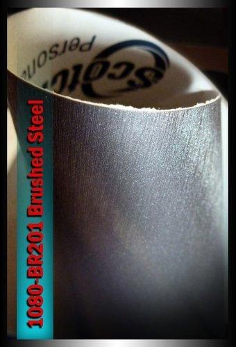 3 m, 1080-BR201, gebürsteter Edelstahl, 30 cm x 152 cm Auto Folie Strukturblech Aufkleber Schutzfolie, Vinyl