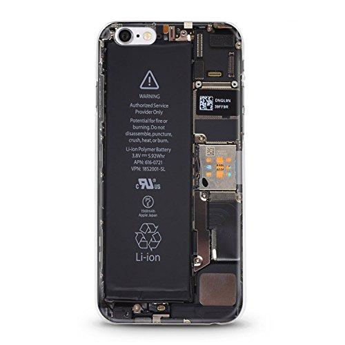 ITGM iPhone Cover Custodia antiurto per iPhone in TPU, leggera in silicone, con foto, protezione antigraffio, Silicone, Battery, iPhone 6, 6S battery
