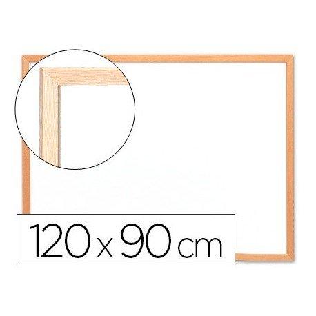 Q-Connect Pizarra Blanca Laminada Marco De Madera 120 x 90 Cm