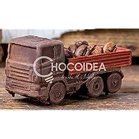 Choco Camión/Choco Truck, 100% artesanal, hecha a mano con chocolate fino belga Barry Callebaut (44g) 7,4 x 2,7.