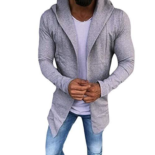 URSING Herren Casual Einfarbig Strickjacke Slim Fit Hoodies V-Ausschnitt Baumwolle Jacke Mantel Baumwollmantel Strickmantel Strickcardigan...