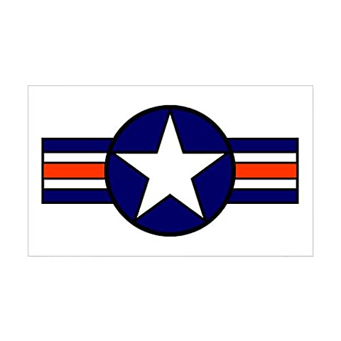CafePress - 1947 USAF Aircraft Insignia Rectangle Sticker - Rectangle Bumper Sticker Car Decal