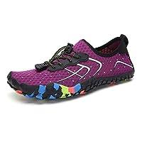 BASIC MODEL Water Shoes Quick Dry Barefoot for Swim Diving Surf Aqua Sports Beach Walking Yoga Exercise (38 EU, Purple)