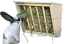 Kerbl Hay Rack con Seduta in Legno, 25 x 17 x 20 cm