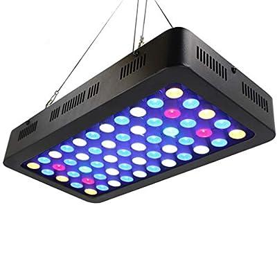 LED Fish Tank Lamp, 165W Lampe pour Aquarium à Spectre Complet, Eau de Croissance/Corail/Lampe pour la Croissance des Plantes, Gradation Manuelle Lampe à Gazon