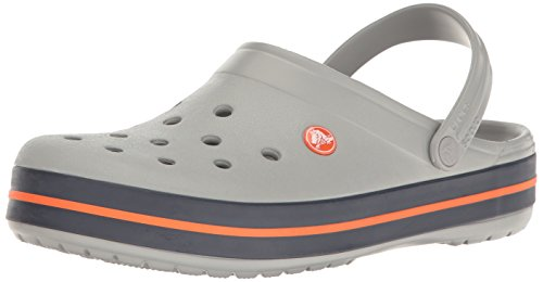 crocs Unisex-Erwachsene Crocband U Clogs, Grey (Light Grey/Navy), 45/46 EU