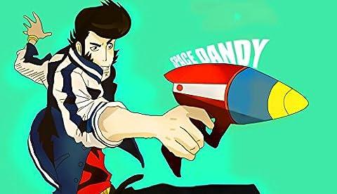 Space Dandy (42x24 inch, 104x60 cm) Silk Poster Affiche de la Soie PJ1E-2DE0