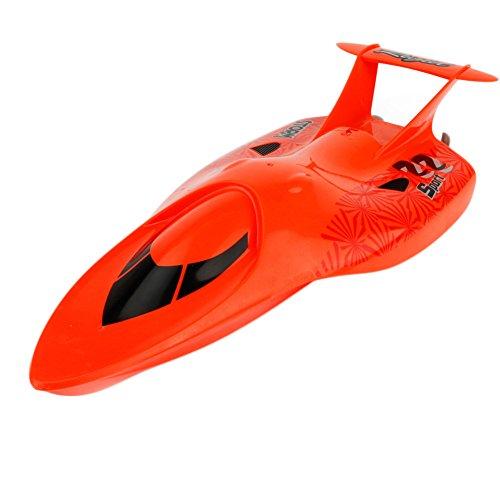 Per 2.4G 4-Kanal RC Boot Kinder Spielzeug Wasserspiele Elektro Racing Speedboot für Sommer USB Wiederaufladbar (rot)