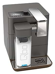 Qbo You-Rista inkl. Milchaufschäumer – Kaffeekapselmaschine für Caffè Crema, Espresso und Caffè Grande (19 Bar, 1500 Watt) Urban Grey