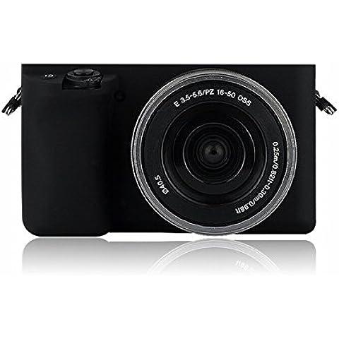 Carcasa Funda Silicona para Sony A6000Negro Cámara. Novedad.