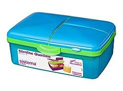 Sistema Lunch Slimline Quaddie Box, 1,5l, blau/grün