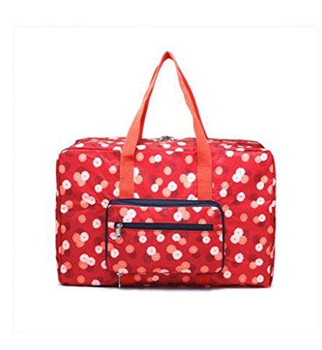 Aufbewahrungsboxen Faltige Reisetasche Tragbare Reisetasche Tragbare Kleidung Gepäck Tasche Aufbewahrungsbeutel Trolley Tasche Oxford Stoff Truhen ( Farbe : Rot ) Rot
