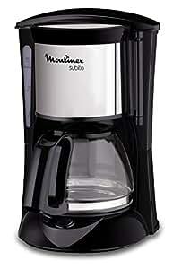 Moulinex FG150813 Subito Cafetière avec 6 Tasses Noir/Inox
